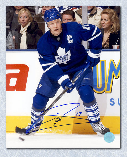 Mats Sundin Toronto Maple Leafs Autographed Home Jersey 8x10 Photo