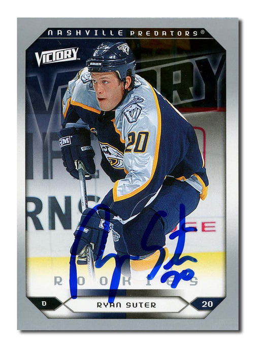 Ryan Suter Autographed 2005-06 Victory Rookie Hockey Card