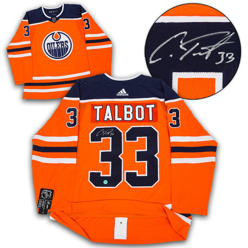 Cam Talbot Edmonton Oilers Autographed Adidas Authentic Hockey Jersey