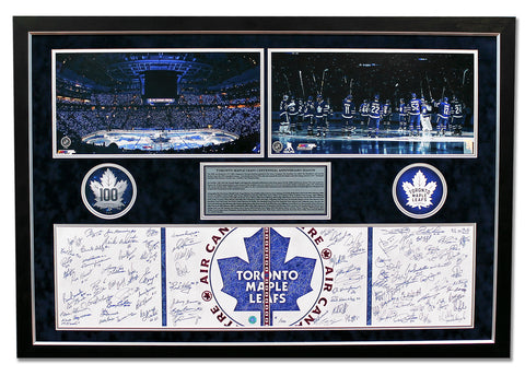 Mitch Marner Maple Leafs Signed & Game Used Net 1st Career Goal 30x19 Frame /100