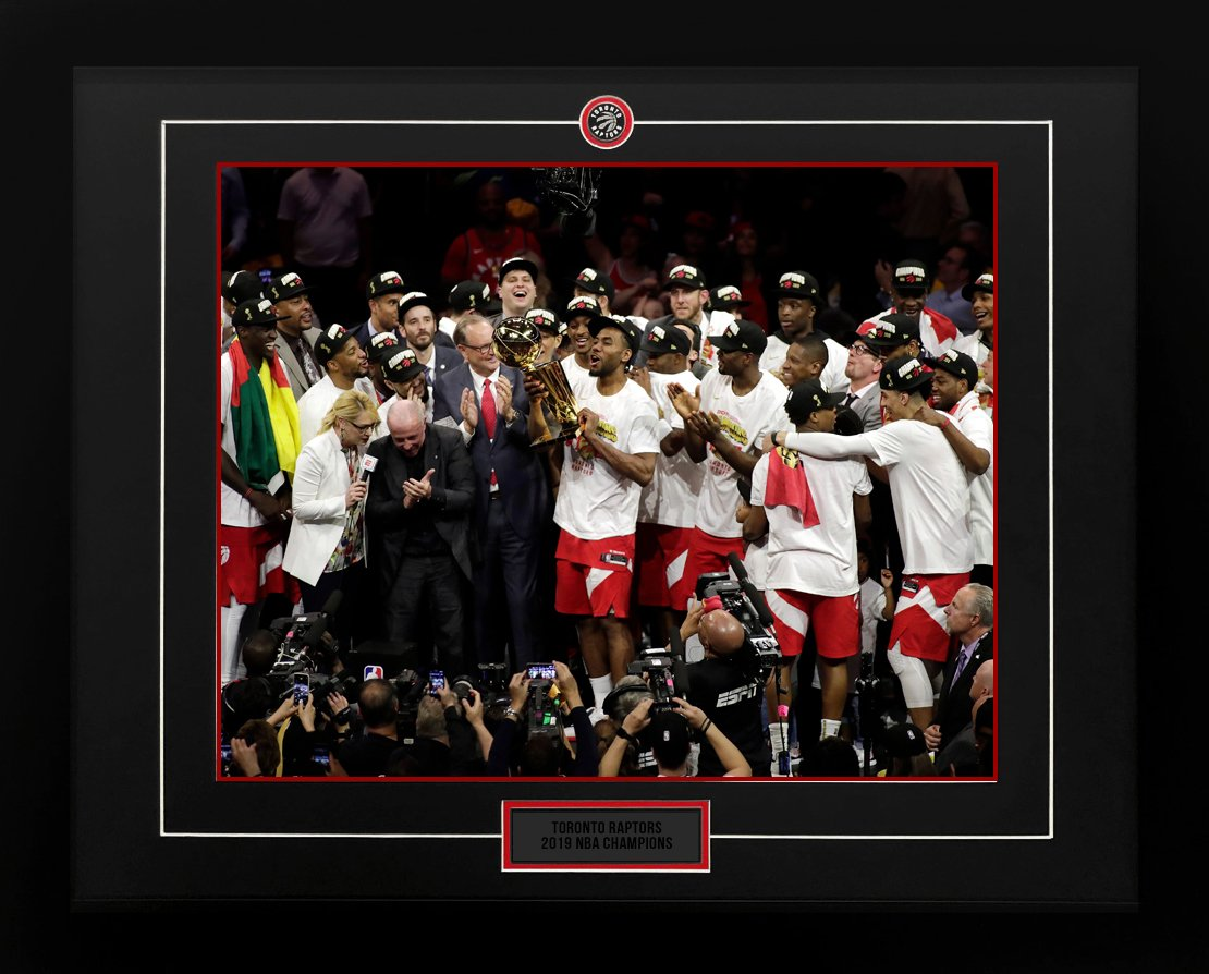 newest collection 031ab 2c7ca Toronto Raptors 2019 NBA World Champions Team Trophy Celebration 26x32 Frame
