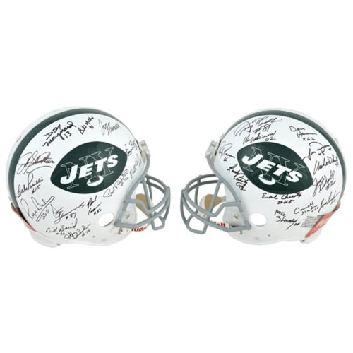 1969 New York Jets 24 Player Team Signed Full Size NFL Football Helmet: JSA