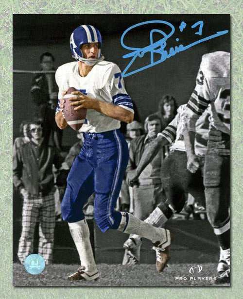 Joe Theismann Toronto Argonauts Autographed Spotlight 16x20 Photo