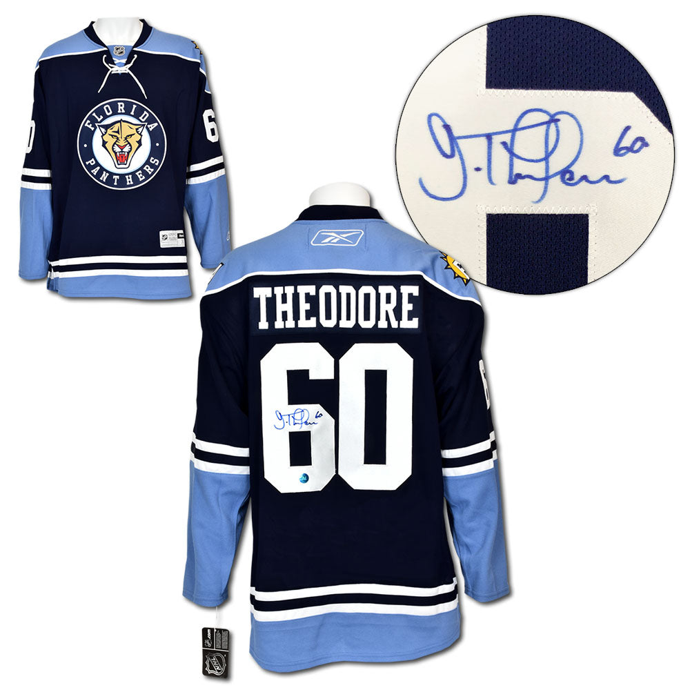 cheap for discount 1d421 44478 Jose Theodore Florida Panthers Autographed Alt Reebok Premier Hockey Jersey