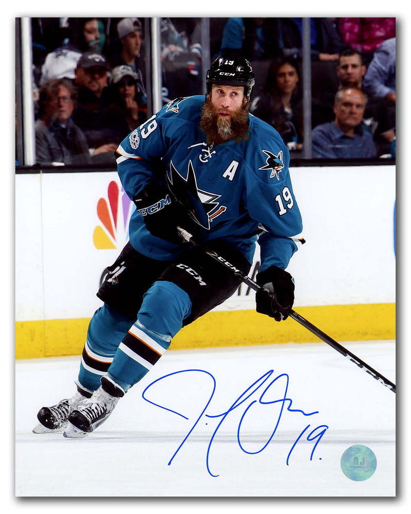 Joe-Thornton-San-Jose-Sharks-Autographed-Game-Action-8x10-Photo