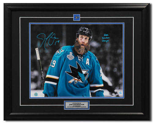 Joe Thornton San Jose Sharks Signed 2016 Stanley Cup Finals 25x31 Frame #/19