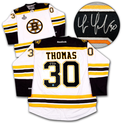 Tim Thomas Boston Bruins Autographed Reebok Premier Jersey
