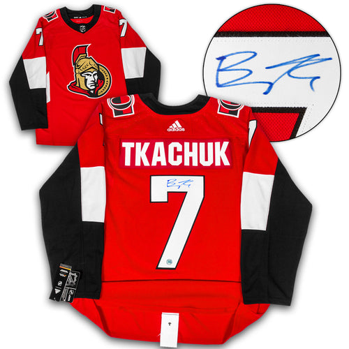 Brady Tkachuk Ottawa Senators Autographed Adidas Authentic Hockey Jersey