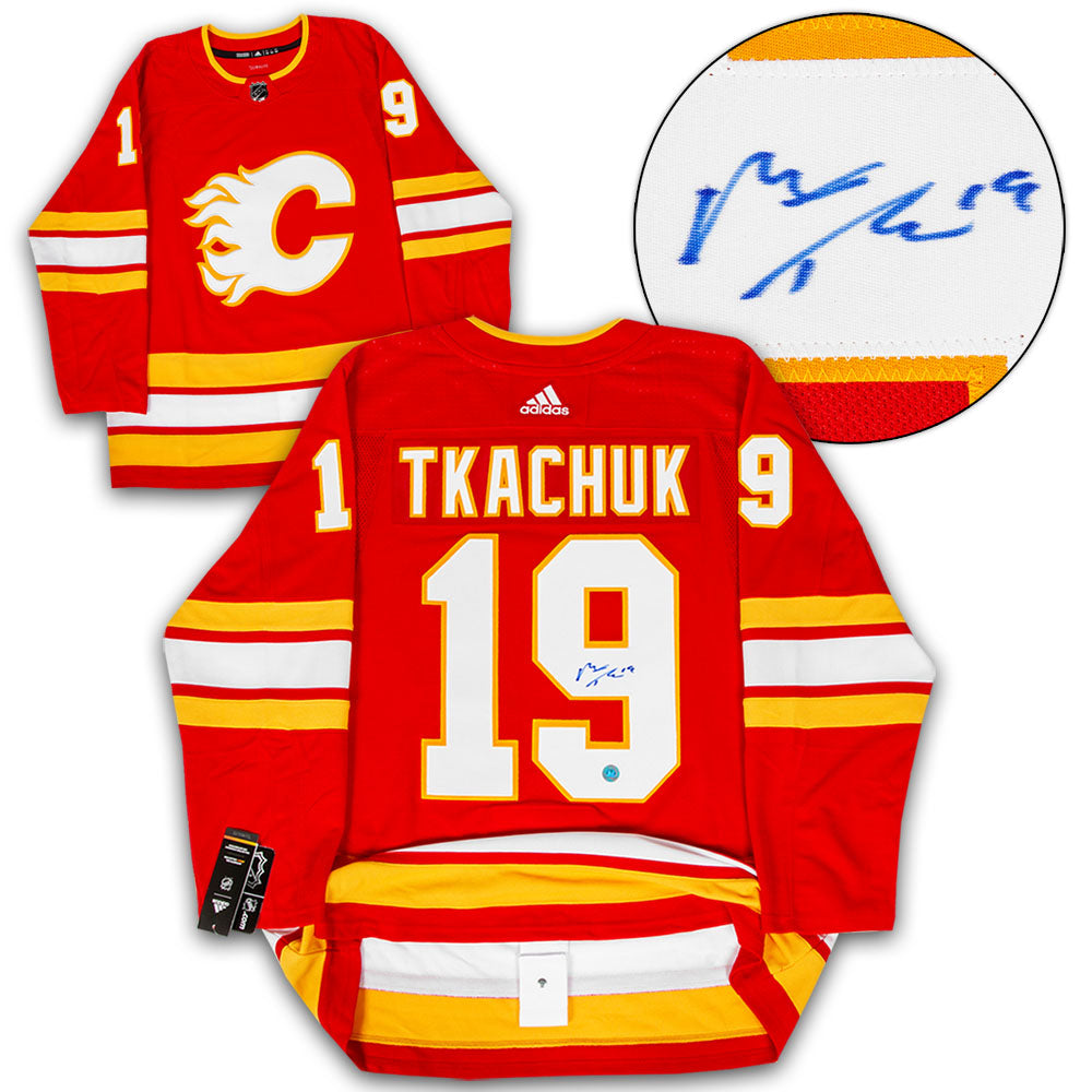 07ea375da ... cheapest matthew tkachuk calgary flames autographed alternate adidas  authentic hockey jersey d0913 12a50
