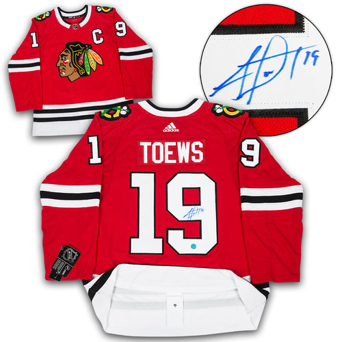 Jonathan Toews Chicago Blackhawks Autographed Adidas Authentic Hockey Jersey