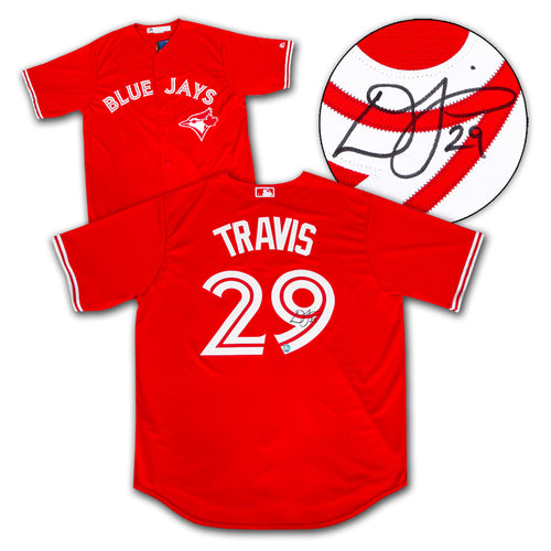Devon Travis Toronto Blue Jays Autographed Red Canada 150 MLB Baseball Jersey