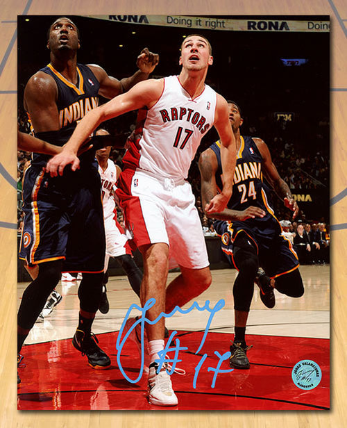 Jonas Valanciunas Toronto Raptors Autographed First NBA Game 8x10 Photo