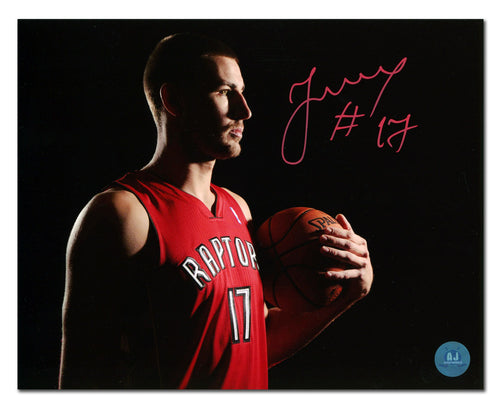 617dd575d Jonas Valanciunas Toronto Raptors Autographed Dark Shadow 8x10 Photo