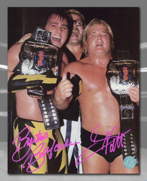 Greg Valentine & Brutus Beefcake WWE Dual Signed Dream team Tag Team 8x10 Photo
