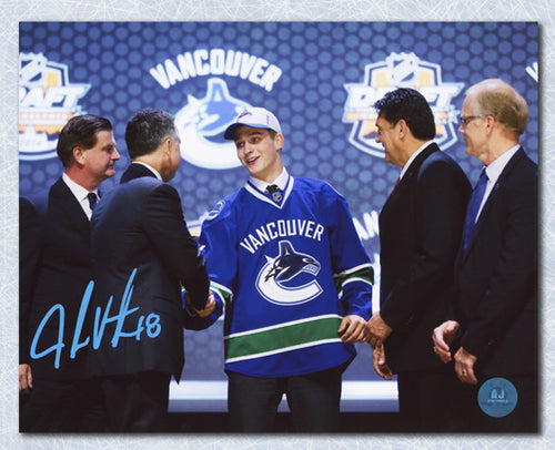 Jake Virtanen Vancouver Canucks Autographed 2014 NHL Draft Day 8x10 Photo