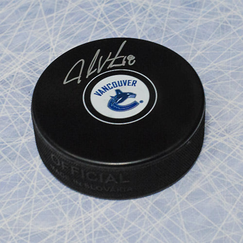 Jake Virtanen Vancouver Canucks Autographed Hockey Puck