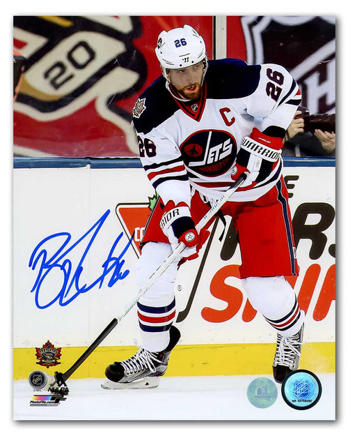 Blake Wheeler Winnipeg Jets Autographed 2016 Heritage Classic 8x10 Photo