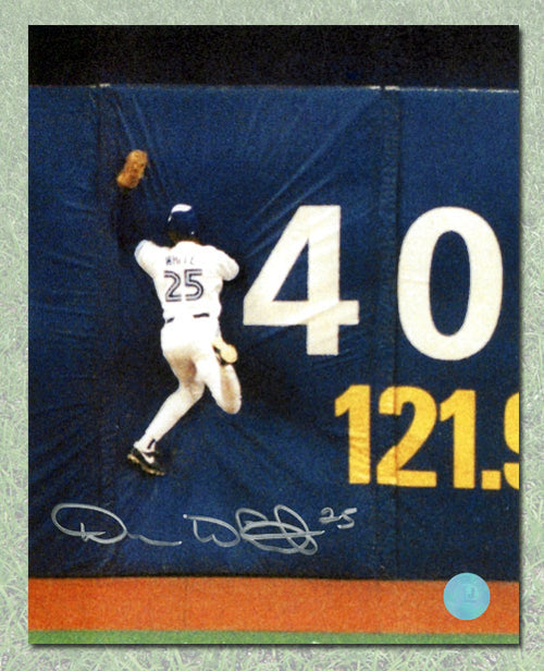 Devon White Toronto Blue Jays Autographed World Series Catch 8x10 Photo