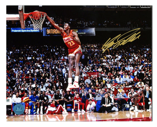 Dominique Wilkins Atlanta Hawks Autographed Slam Dunk Contest 8x10 Photo