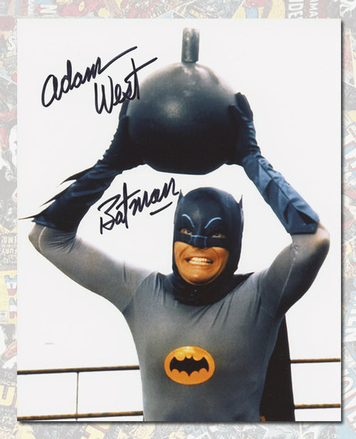 Adam West Autographed Batman TV Show Bomb 8x10 Photo