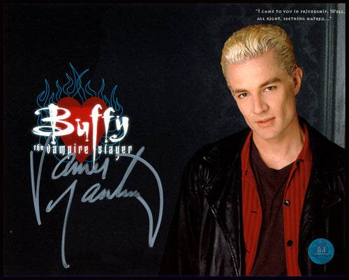 James Marsters Autographed Buffy the Vampire Slayer Spike Leaning 8x10 Photo