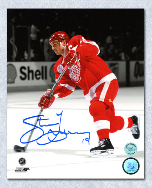 Steve Yzerman Detroit Red Wings Autographed Spotlight 8x10 Photo