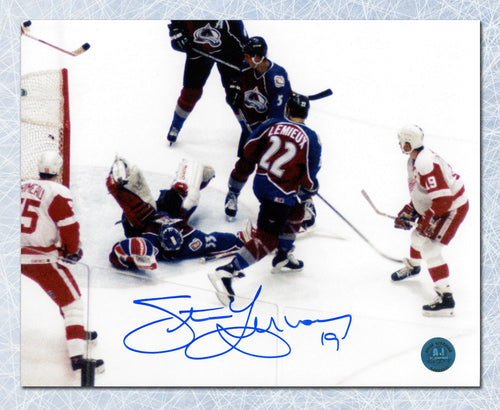 Steve Yzerman Detroit Red Wings Autographed 500th Goal 8x10 Photo