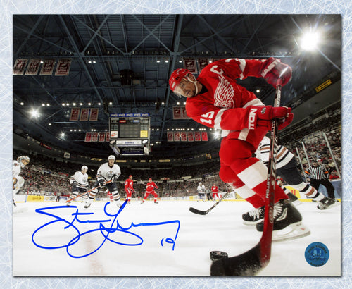 Steve Yzerman Detroit Red Wings Autographed Metallic Ice Camera 8x10 Photo