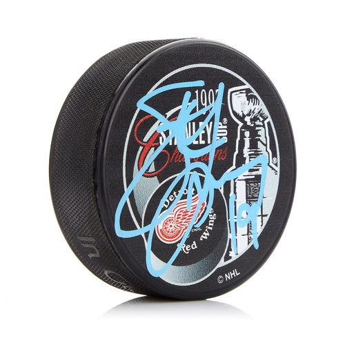 Steve Yzerman Detroit Red Wings Autographed 1997 Stanley Cup Puck