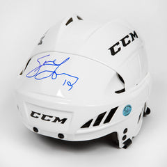 Steve Yzerman Autographed White CCM Detroit Red Wings Hockey Helmet