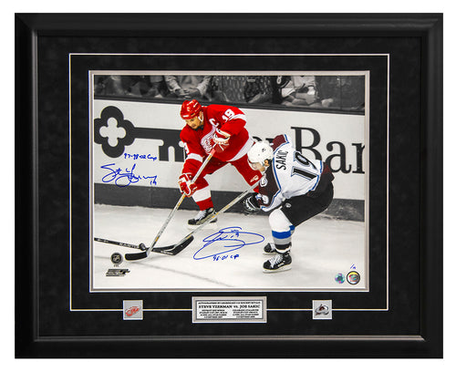 Steve Yzerman & Joe Sakic Dual Signed & Inscribed #19 Rivals 25x31 Frame LE/19