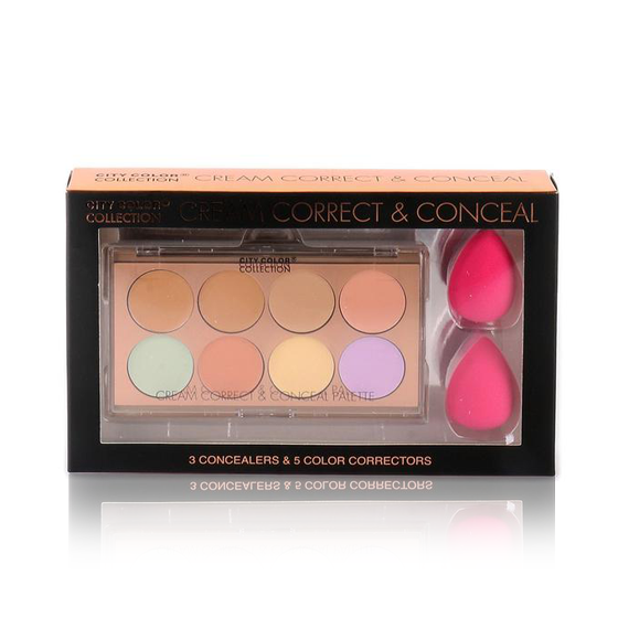 Cream Correct & Conceal Face Palette