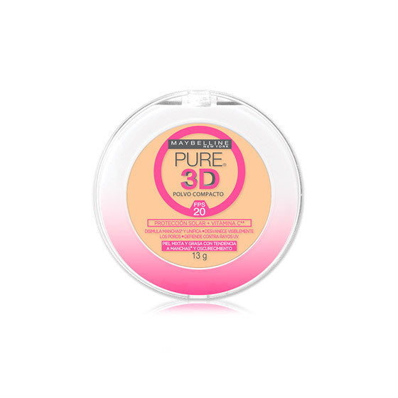 Maybelline - Pure Makeup 3D Compact Powder - Ibella