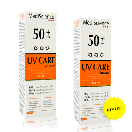Pack 2x1 UV Care Shield Crema FPS 50+ de 90mL