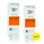 Pack 2x1 UV Care Shield Dry Touch FPS 50+ de 90mL