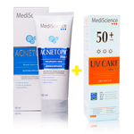 Pack Acnetopic Wash 90mL + UV Care Shield Dry Touch 90mL