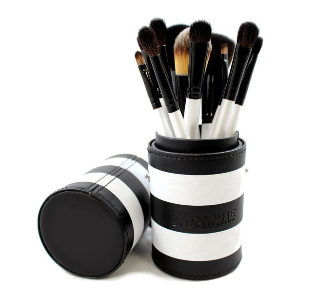 Set 706 - 12 Piece Black And White Travel Set - Morphe - Ibella - 1
