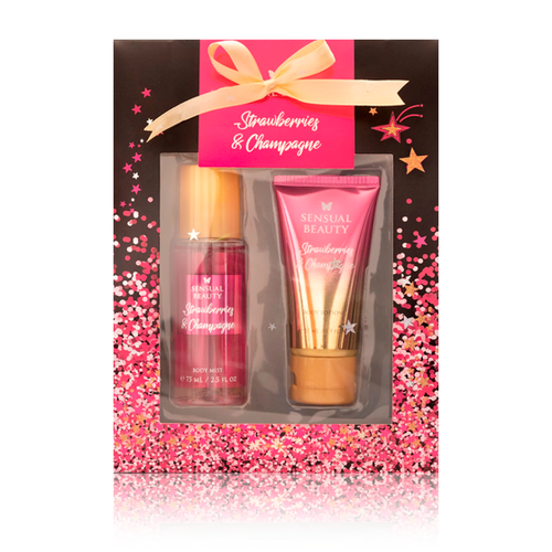 Set Body Mist 75ml + Body Lotion 57ml Strawberries & Champagne