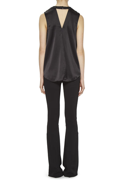 Nicole Miller Keyhole High Neck Top - Blk