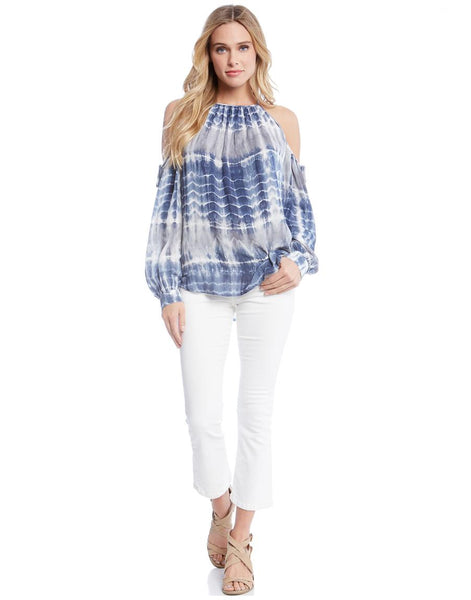 Fifteen-Twenty Blue Split Sleeve Top