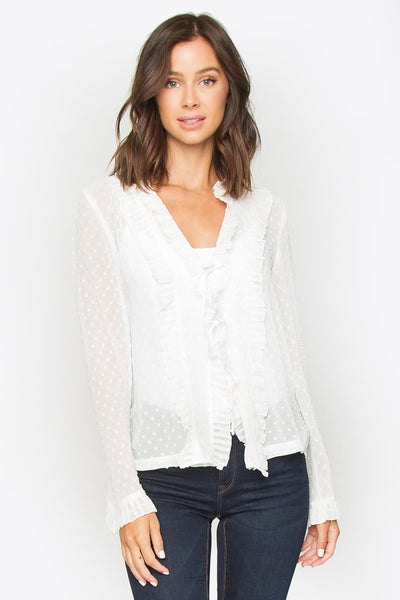 Sugarlips Loyal Hearts Polka Dot Top
