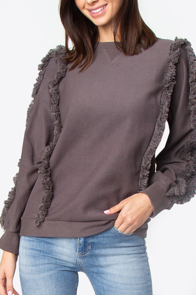 bcb0671a8f4 Sugarlips Houston Fringe Sweatshirt