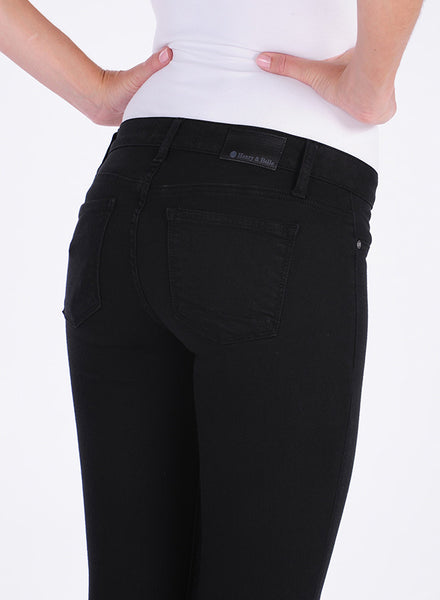 Henry & Belle Pitch Cropped Skinny: Black