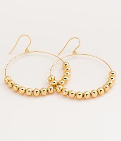 Gorjana Newport Large Drop Hoops Gold