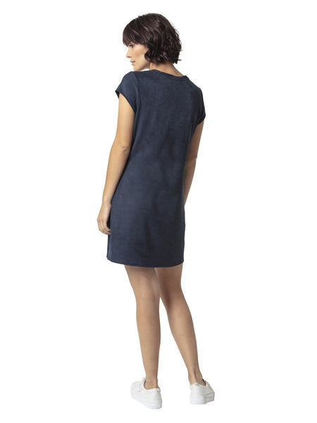 Astars Sierra Vegan Suede Tee Dress