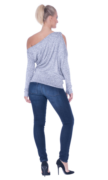 Atina Cristina Kelly Assymetric Knit Top