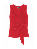 Fifteen Twenty Twisted Drape Top - Red