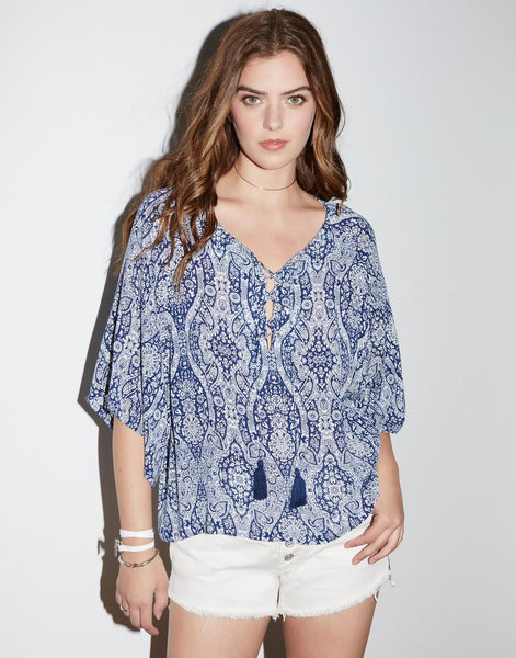 Fifteen-Twenty Lace Up Top