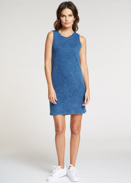 Feel the Piece Josie Dress: Mineral Navy