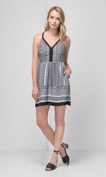 Greylin Keeley Printed Sleeveless Dress
